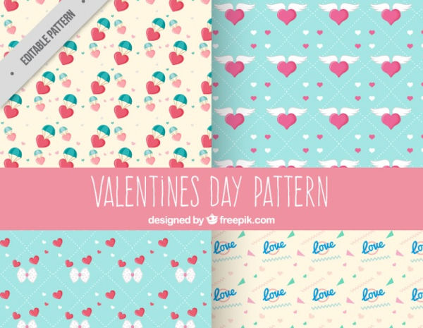 free valentines day psd patterns