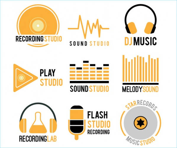 free vector collection of music logos