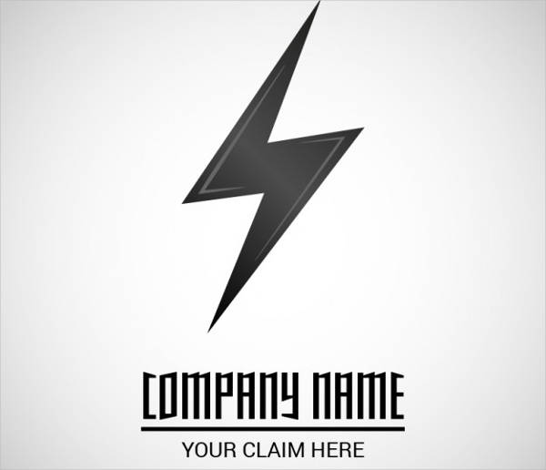 free vector electrical lightning logo