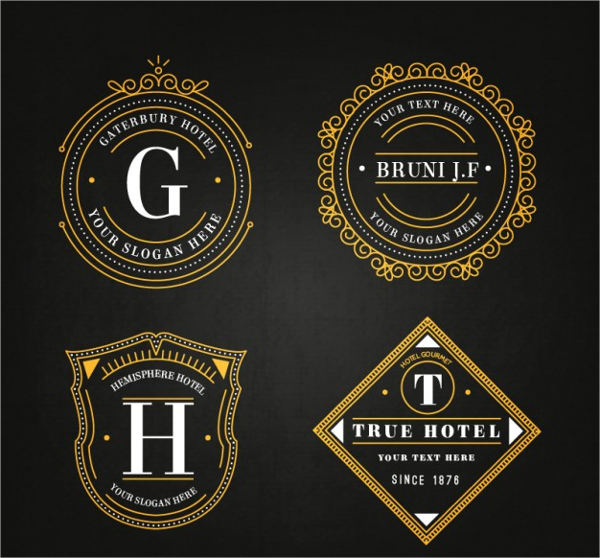 free vector elegant hotel luxury label