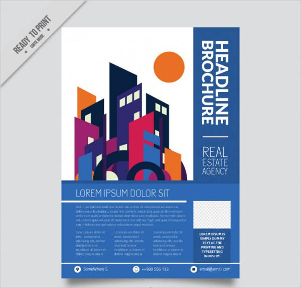 free vector real estate brochure