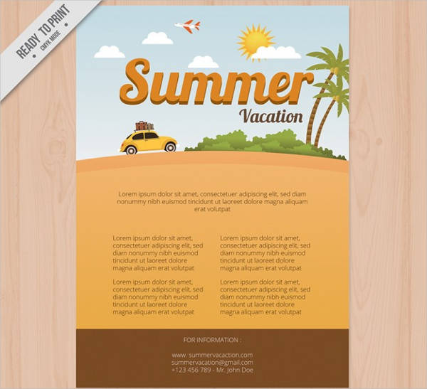 free vector summer vacation brochure