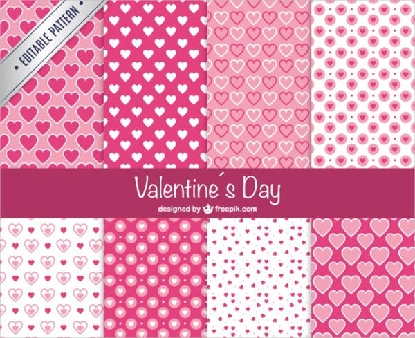 free vector valentines day patterns