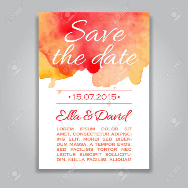 free vector wedding text on red watercolor
