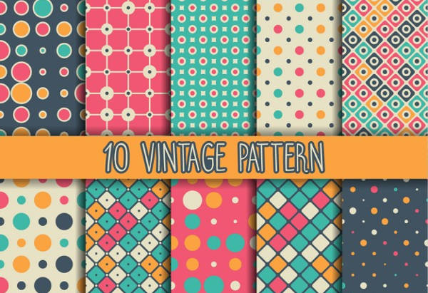 free vintage polygon patterns