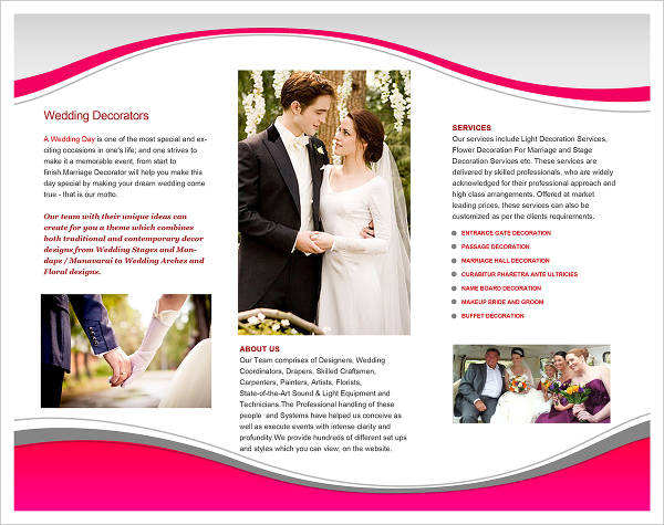 free wedding planner brochure