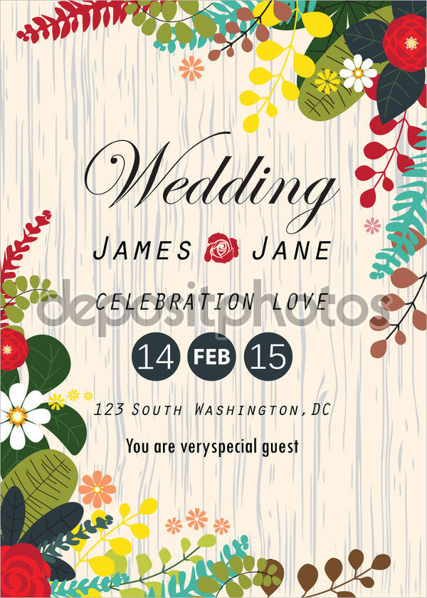 free a4 wedding invitation template1