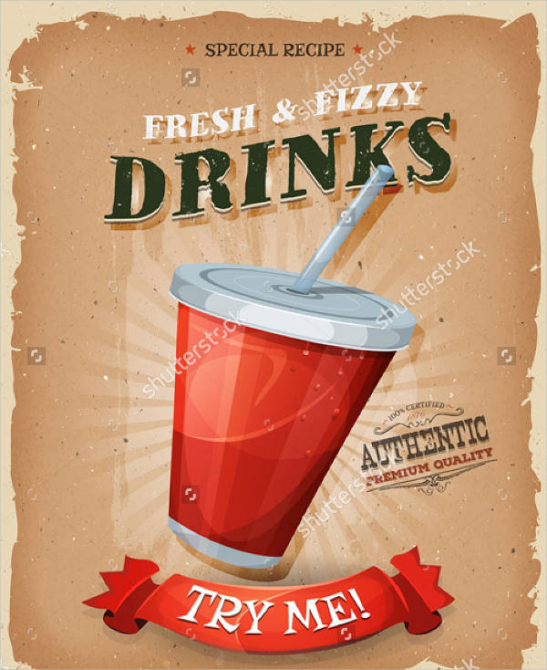 fresh fruit juice ad poster