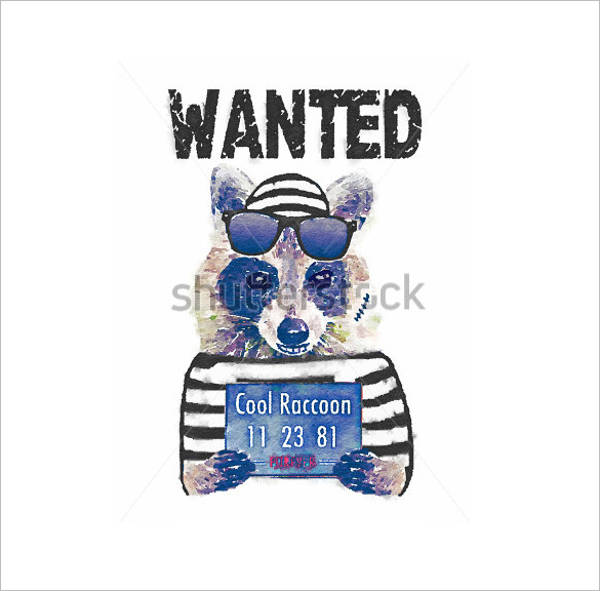 funny animal wanted poster