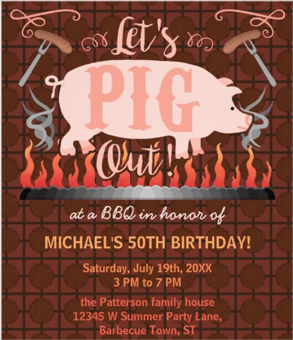 funny bbq invitation