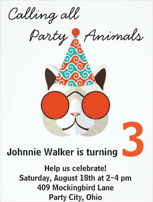 funny birthday event invitation