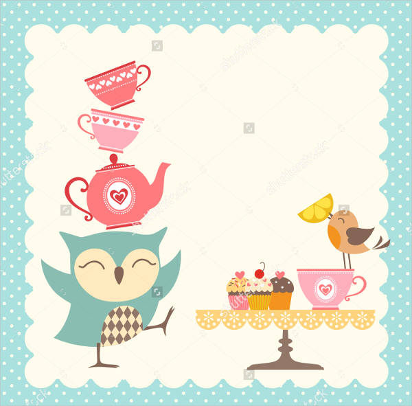 funny owl tea party