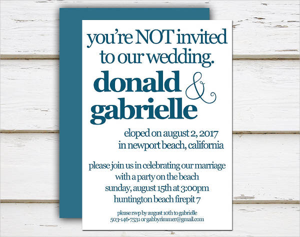 Funny Invitations For Wedding: 40+ Wedding Invitations Download