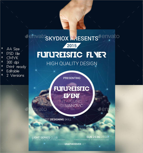 futuristic event flyer