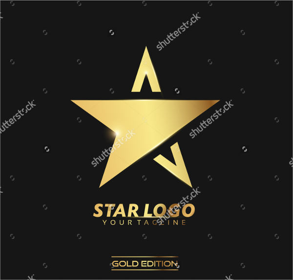 gold star logo design