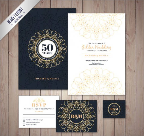 golden wedding brochure