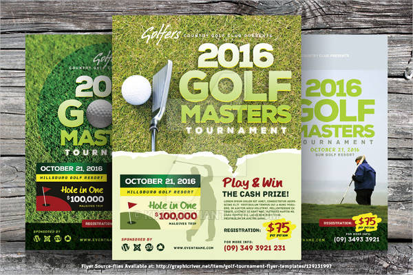 golf advertisement flyer