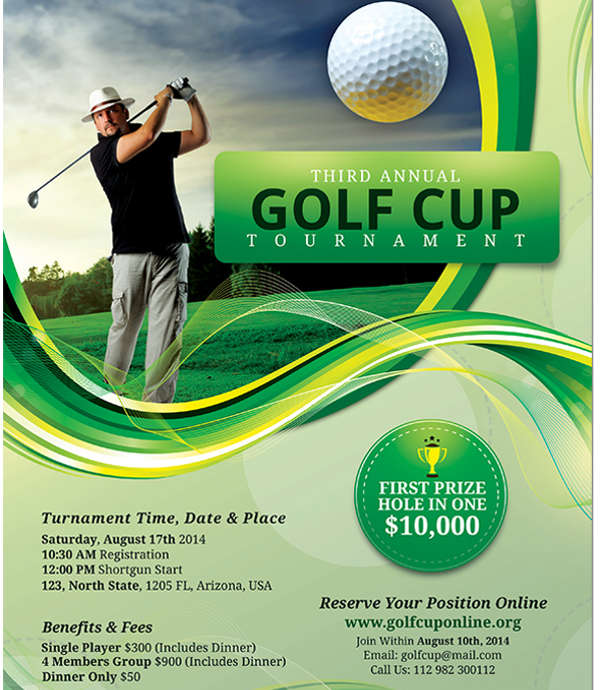 golf day event flyer1