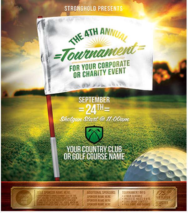 golf tournament event flyer