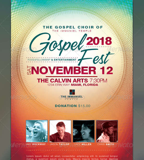 gospel fest church event flyer