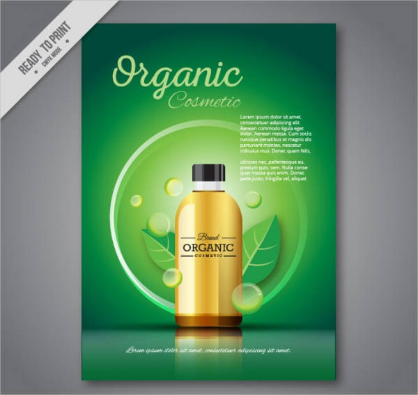 green organic cosmetic brochure