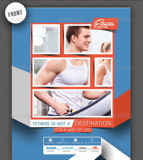 gym and fitness center poster