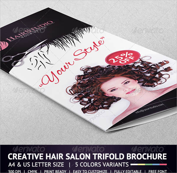 hair salon brochure template