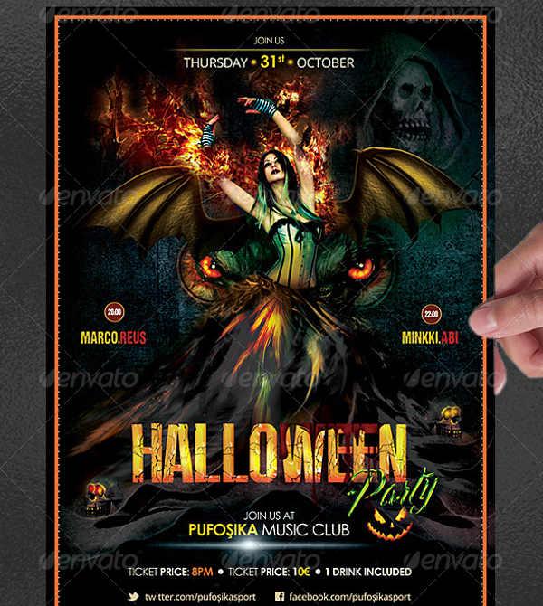 halloween music poster template