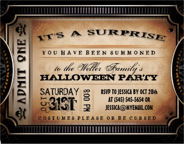 halloween surprise party invitation