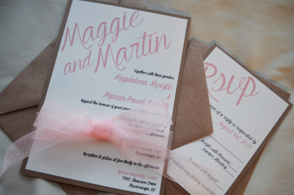 handmade vintage wedding invitation