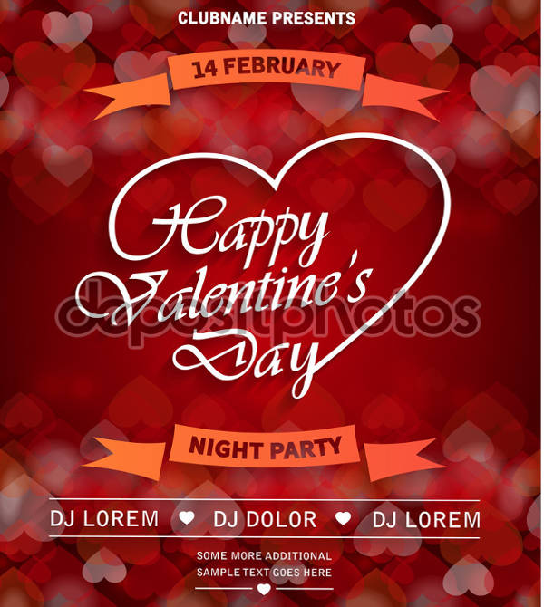 happy valentine's day party flyer1