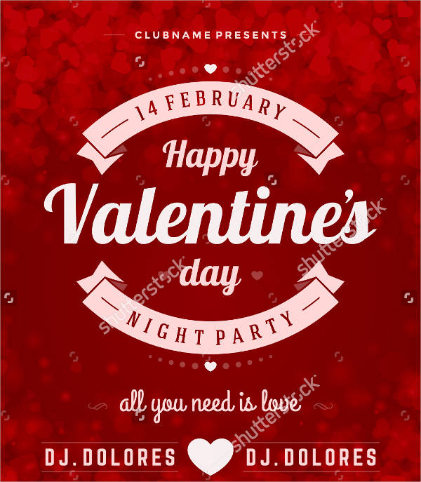 happy valentine's day party flyer2