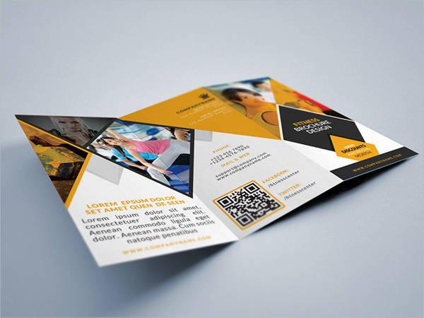 health gym fitness tri fold brochure to print