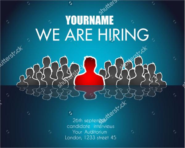 hiring job advertising poster