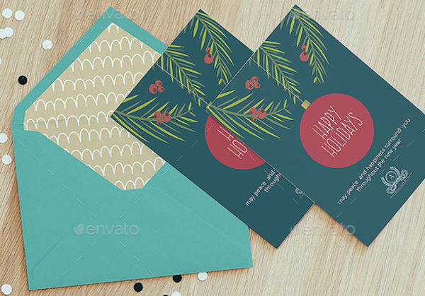 holiday card template for business
