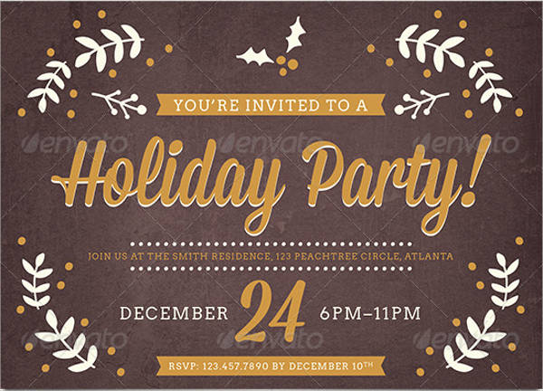 holiday event invitation wording