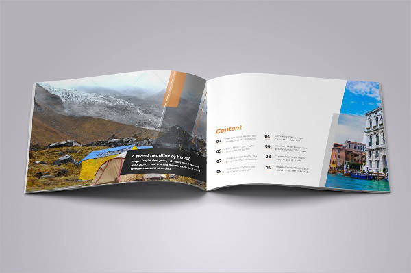 holiday travel brochure design v1