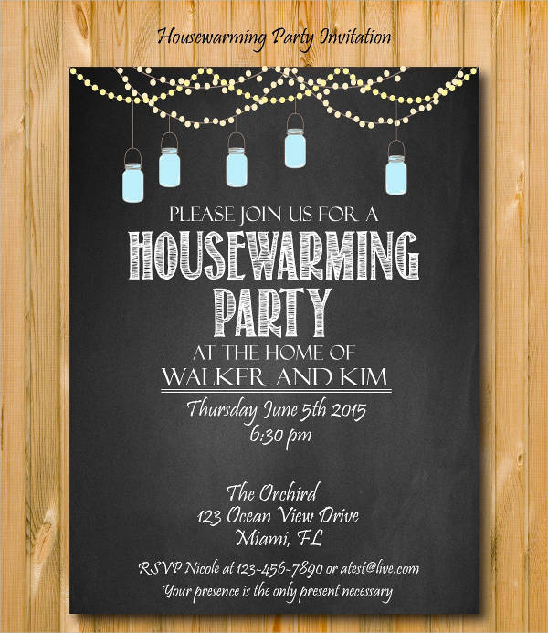 8 Housewarming Invitation Templates Free Download