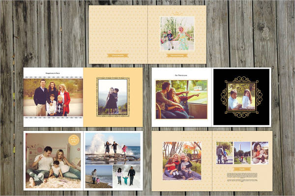 indesign family photo album
