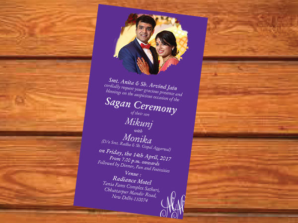 indian style engagement invitation