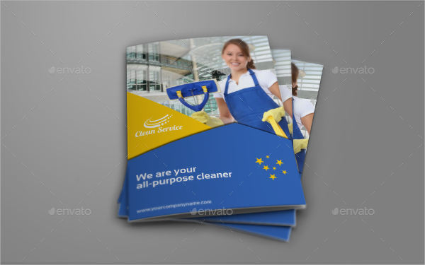 industrial cleaning company bifold brochure