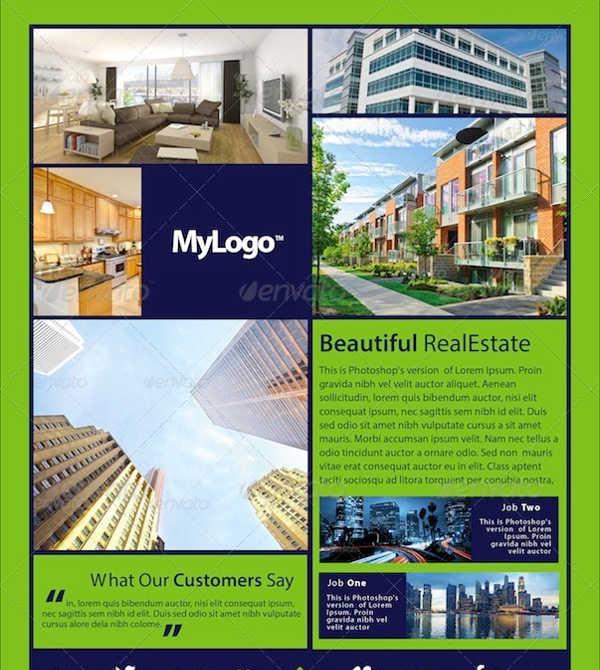 innovative real estate flyer template