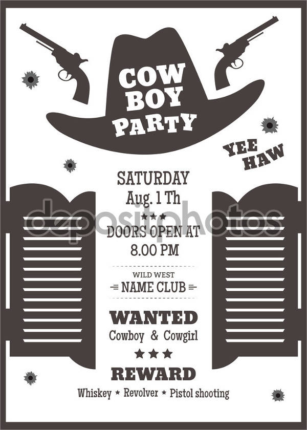 invitation wanted poster wording