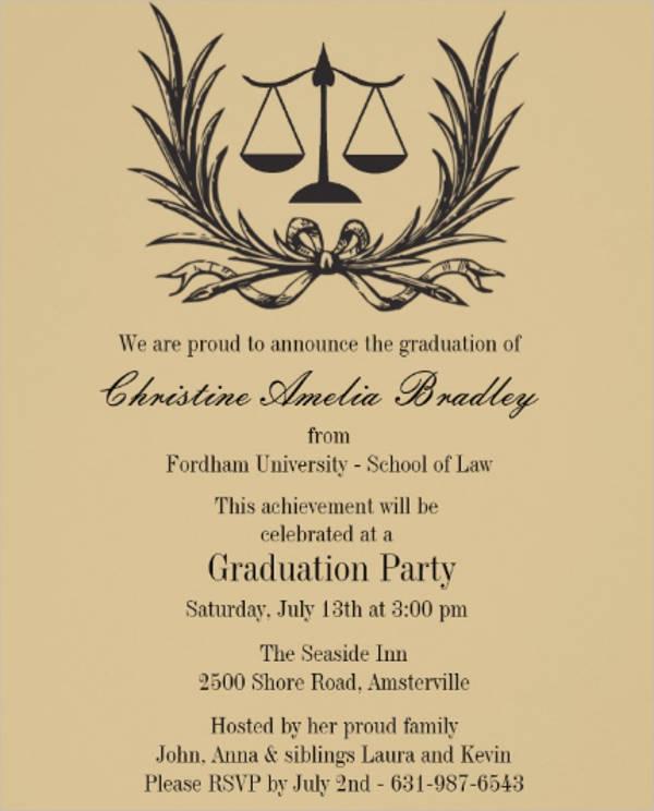 justice wreath law school graduation invitation1