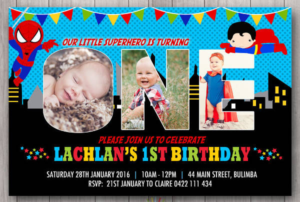 kid birthday party invitation card