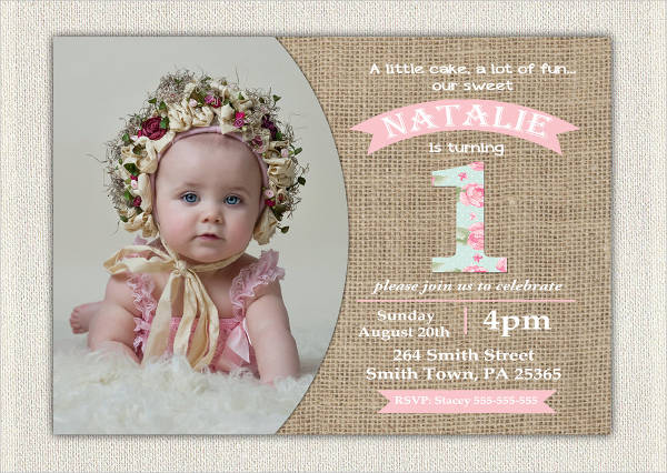 kid first birthday invitation