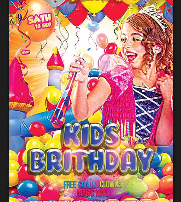 kids birthday party flyer3