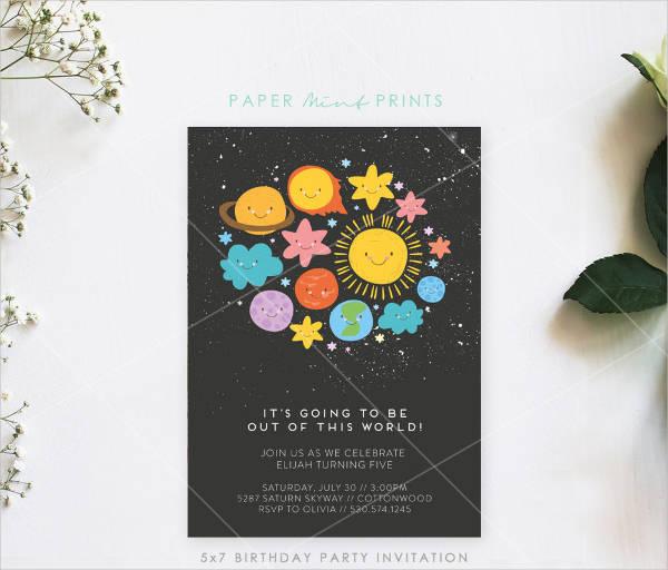 kids birthday party invitation templates