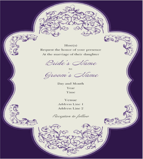 40 wedding invitations download downloadcloud With cost of printing wedding invitations at kinkos
