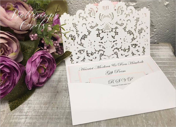 lace vintage wedding invitation2